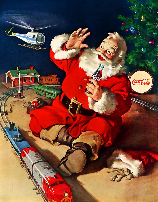 Coca Cola Vintage Christmas Ad