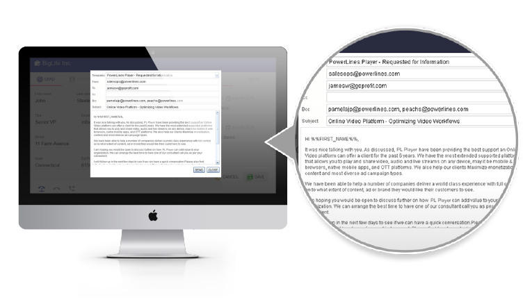 DialStream Email & Social Media features