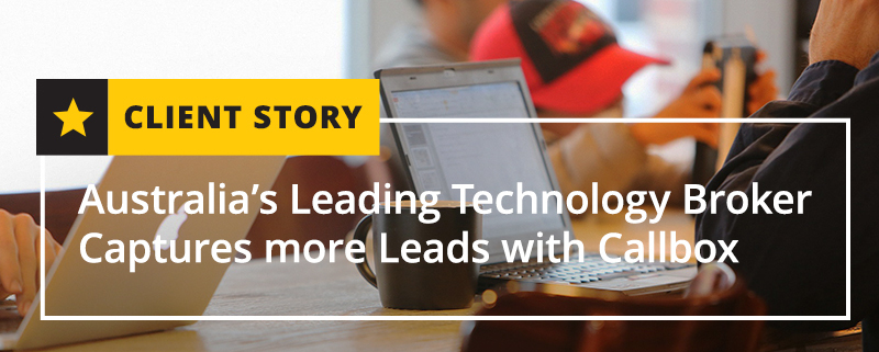Australia's Leading Technology Broker Captures more Leads with