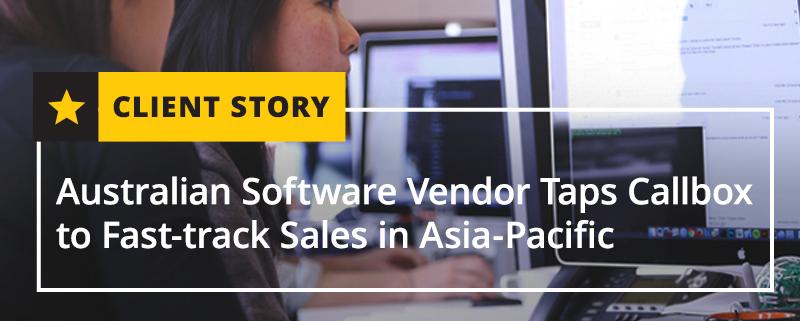 Australian Software Vendor Taps Callbox to Fast-track Sales in