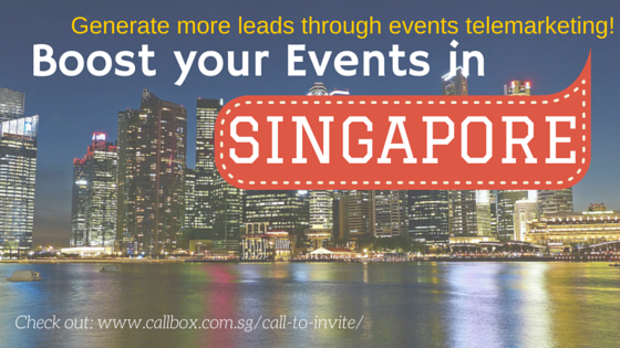 Events Telemarketing Services - Callbox Singapore