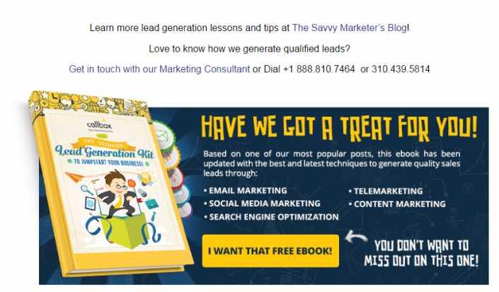 Callbox B2B Lead Generation Kit Free Ebook CTA