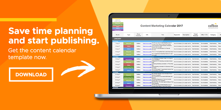 Content Marketing Calendar Template [Free Download]