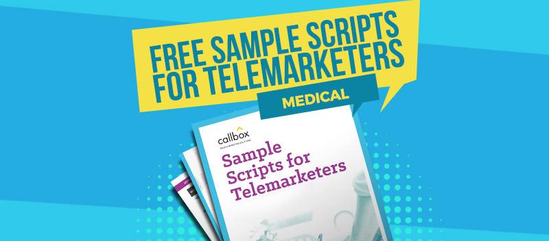 Sample Telemarketing Scripts for Medical