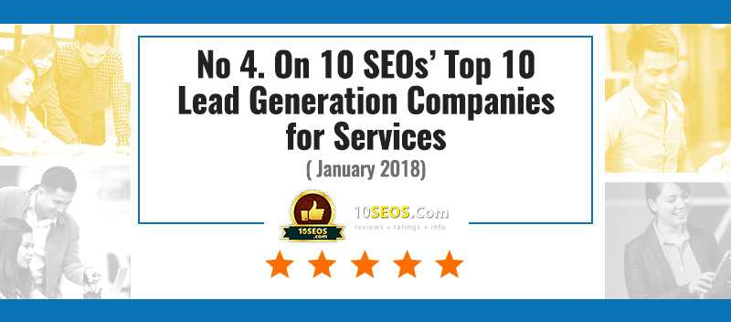 No 4. On 10 SEOs' Top 10 Lead Generation Companies for Services, January 2018