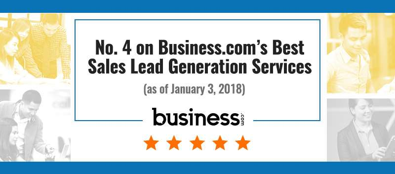 No. 4 on Business.com's Best Sales Lead Generation Services (as of January 3, 2018)