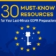 30 Must-Know Resources for Your Last-Minute GDPR Preparations
