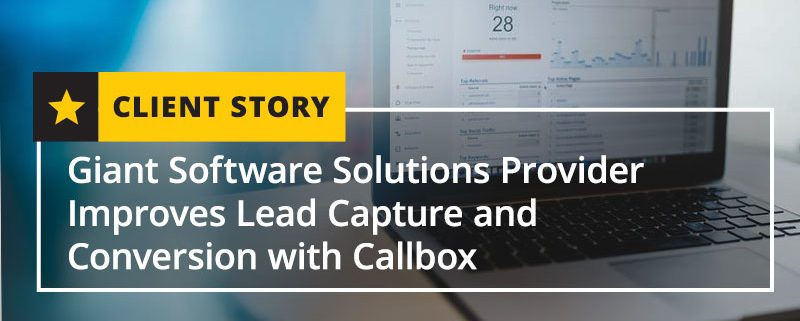 Giant Software Solutions Provider Improves Lead Capture and Conversion (Featured Image)