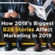 How 2018's Biggest B2B Stories Affect Marketing in 2019