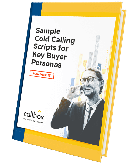 Sample Cold Calling Scripts for Key Buyer Personas in Managed IT eBook cover