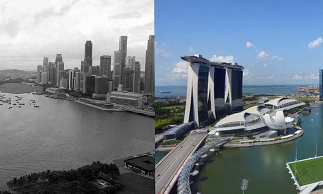 Marina Bay - then and now