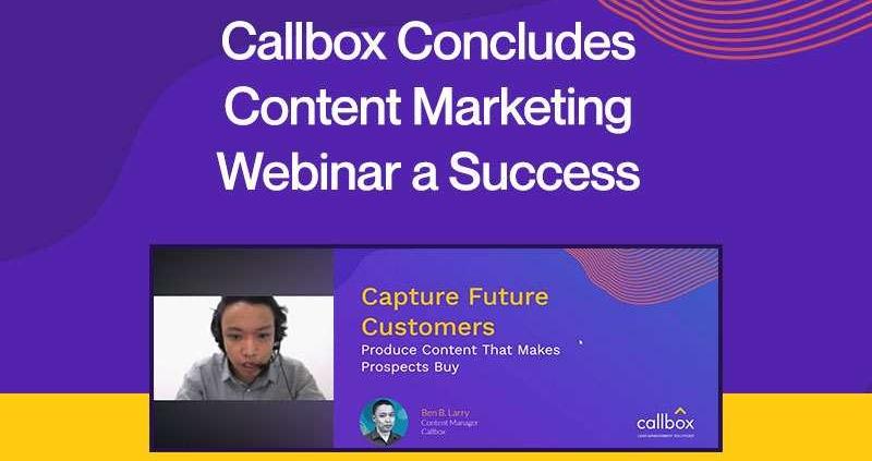 Callbox Concludes Content Marketing Webinar a Success
