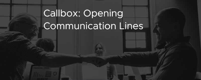 Callbox Opening Comunication Lines [CASE STUDY]