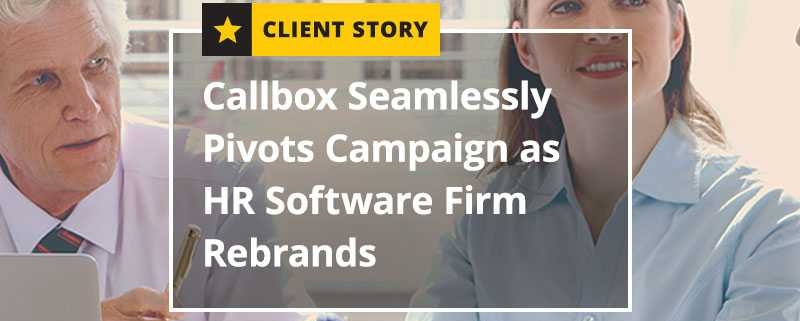 Callbox Seamlessly Pivots Campaign as HR Software Firm Rebrands (Featured Image)