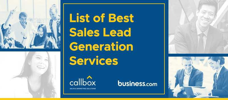 List of Best Sales Lead Generation Services (Section Image)
