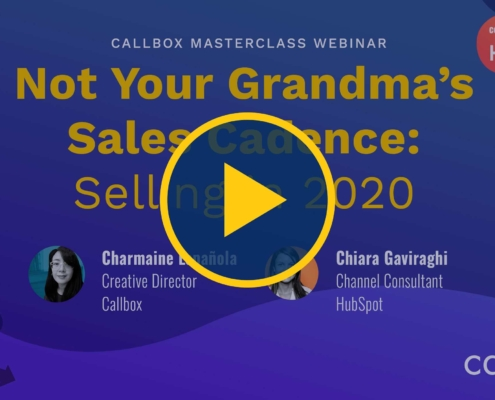 Not Your Grandma's Sales Cadence Selling in 2020
